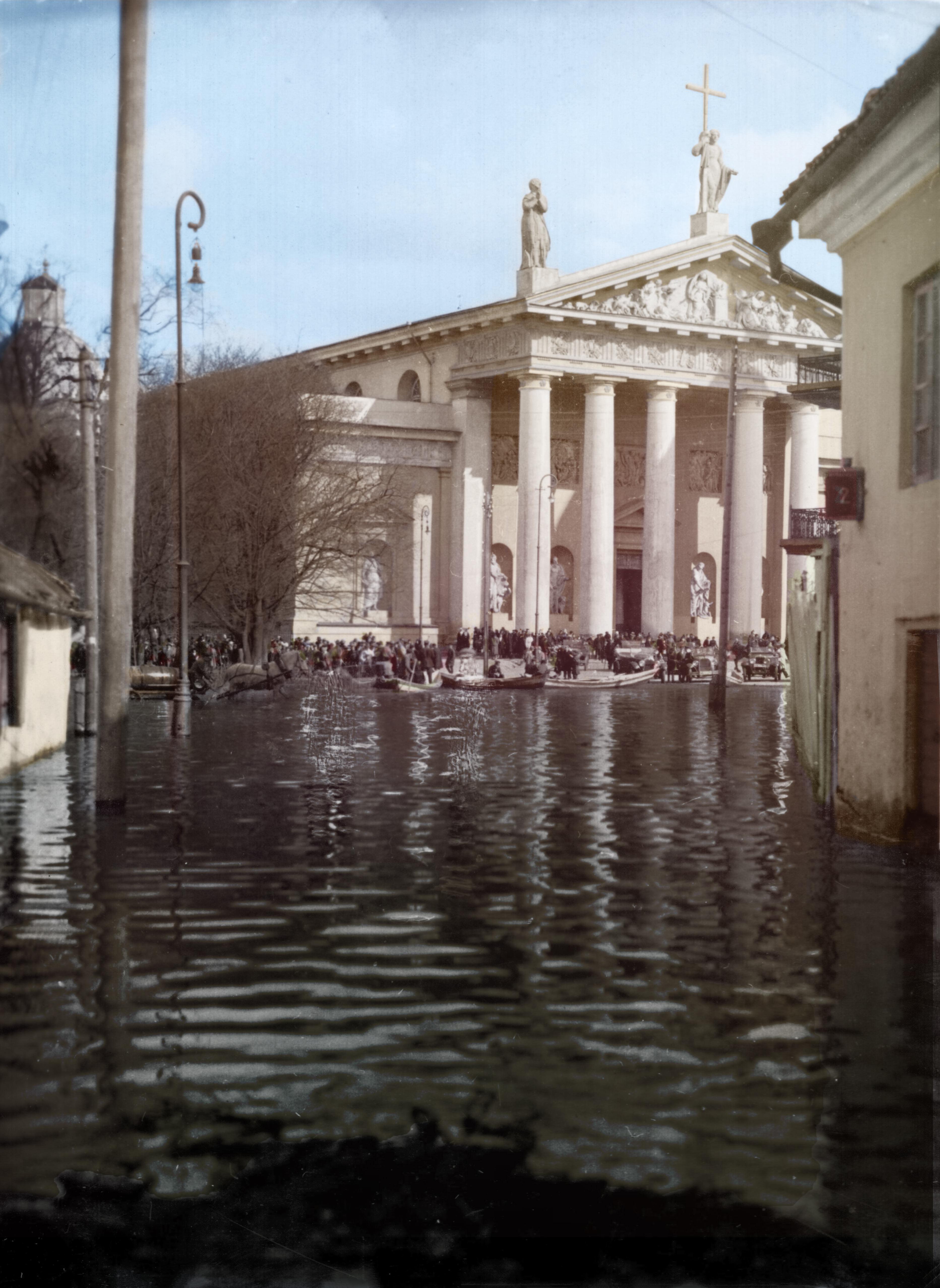 Didysis Vilniaus potvynis, 1931 metai. Šaltinis: simtmeciospalvos.lt, LLMA F.273 ap.1 b.11